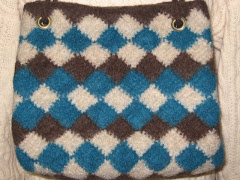Felted Tunisian Bag