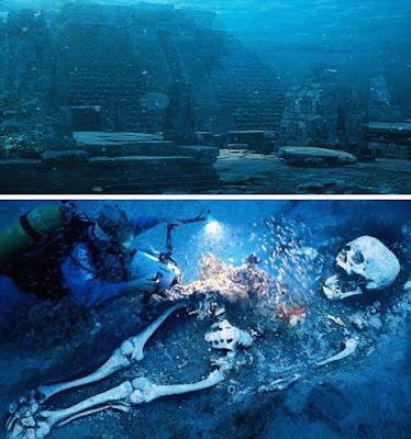 """世界11大海底墳墓(五) 亞特蘭蒂斯遺址和""""巨人的骷髏""""?"""
