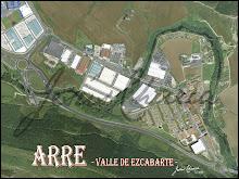 fotografía aérea de Arre