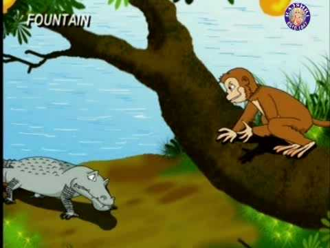 the monkey and the crocodile Once upon a time, a clever monkey lived in a tree that bore juicy, red rose apples he was very happy one fine day, a crocodile swam up to that tree.