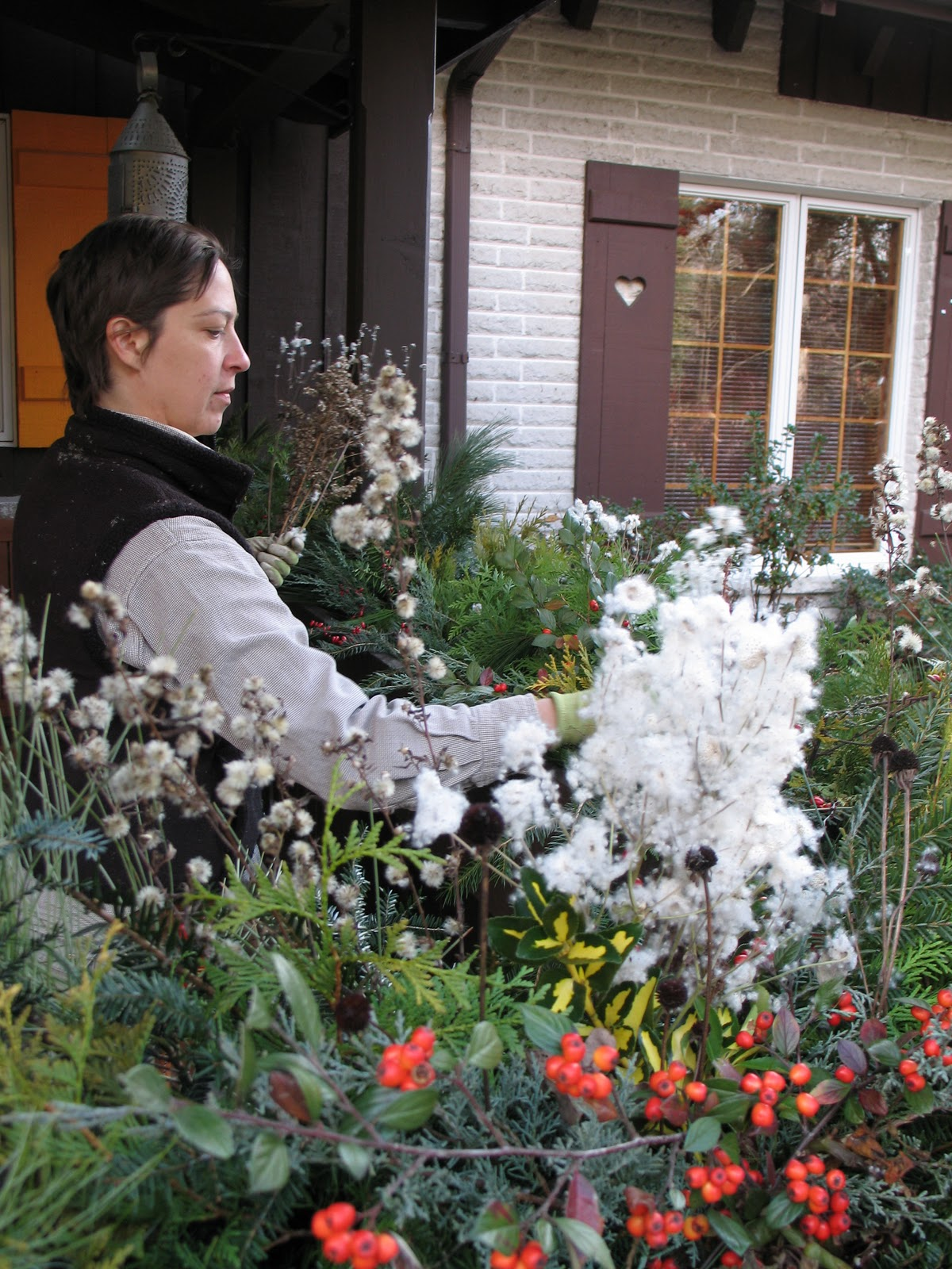december is for decorating natural window boxes at swiss woods
