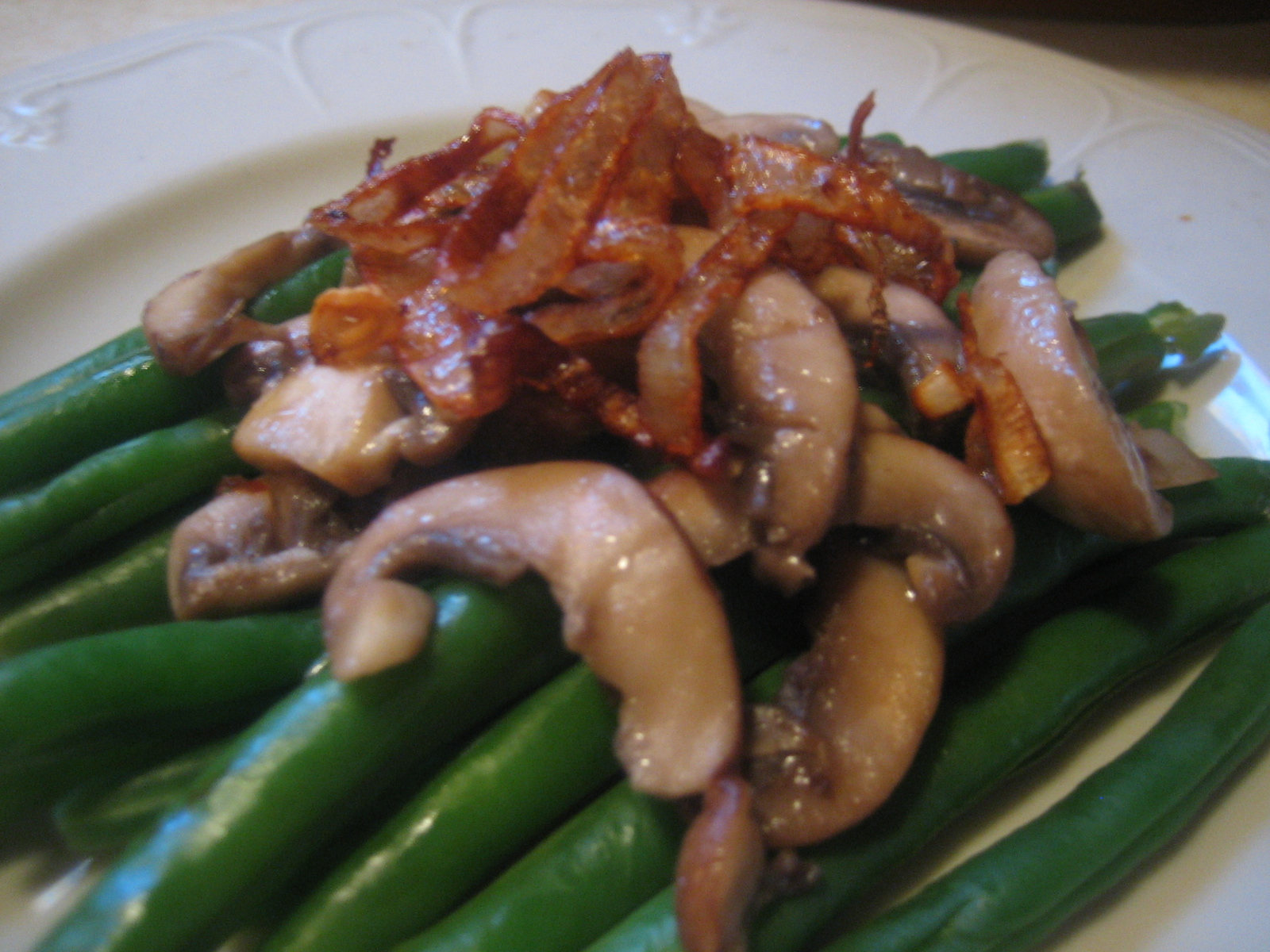 "Savory Palates: Deconstructed Green Bean ""Casserole"""