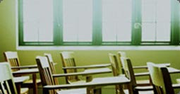 image of school desks