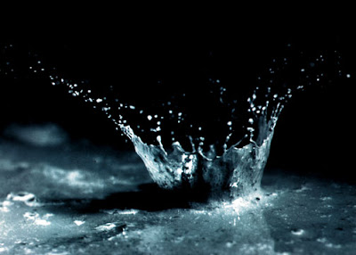photo of a water splash