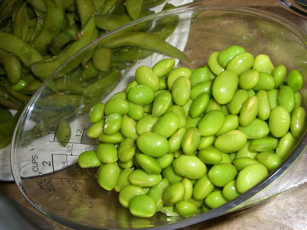 Maple Macaroni: Recipe: Roasted Garlic-Edamame Spread