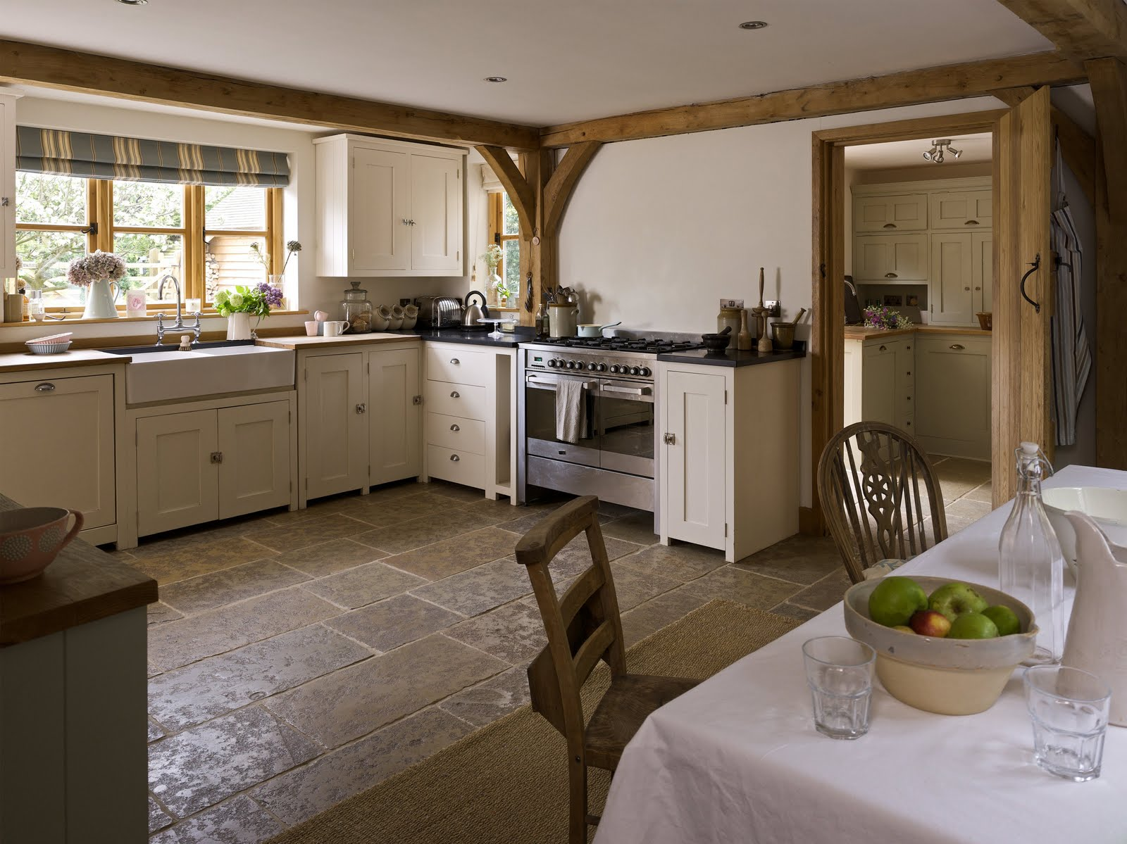 From little acorns country homes and interiors for Country kitchen flooring