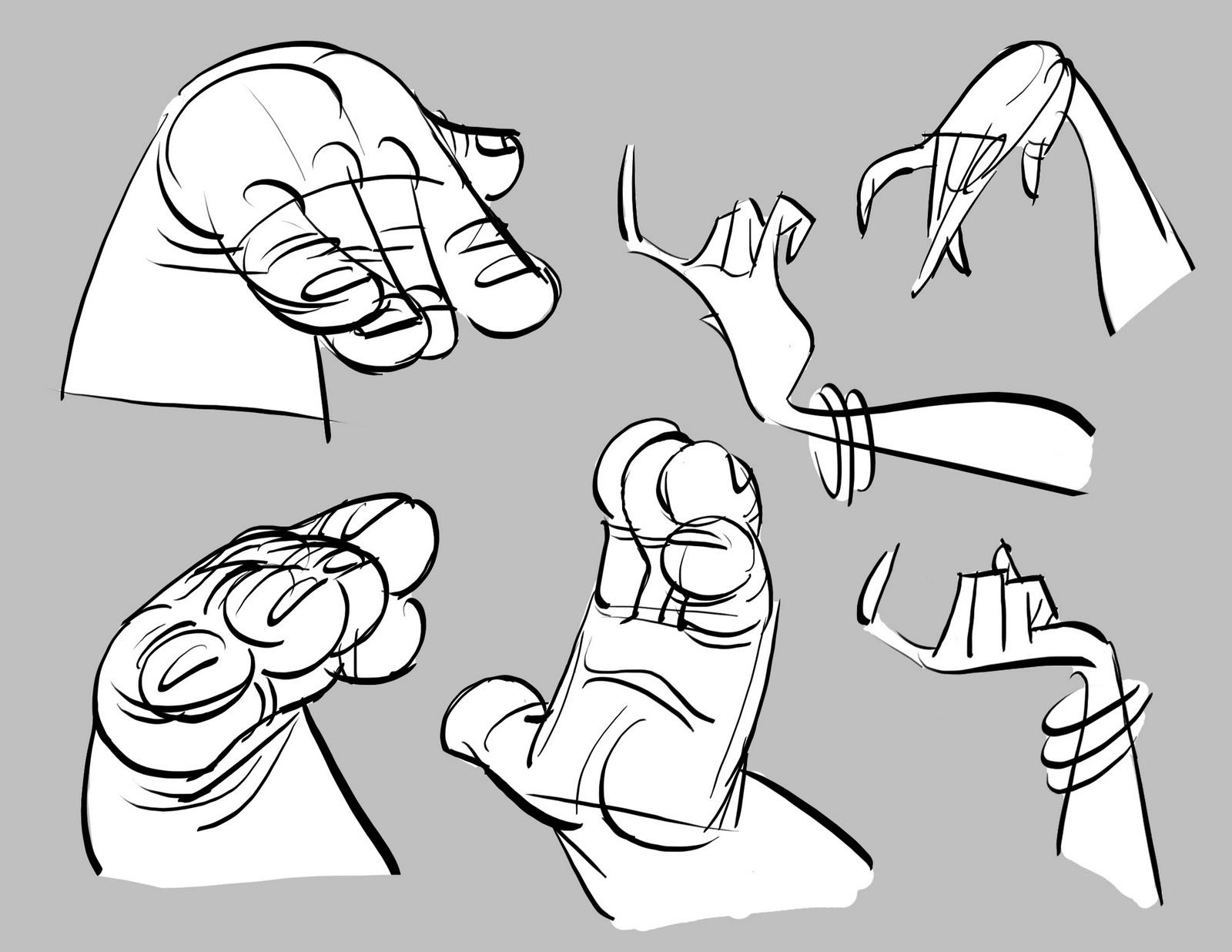 Dibujando manos variadas