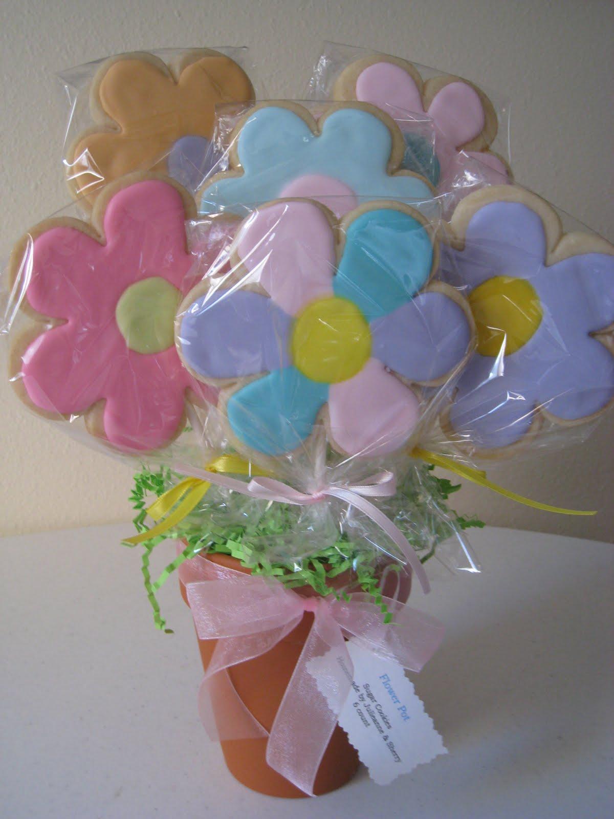 Best Tasting Sugar Cookies Ever!!: Cookie Flower Bouquets