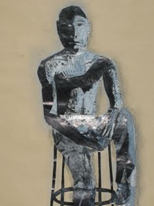 Figure by collage artist Megan Coyle