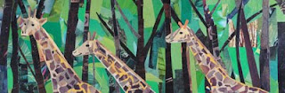 One, Two, Three Giraffes by collage artist Megan Coyle