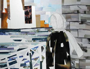 Windy City Walks by collage artist Megan Coyle