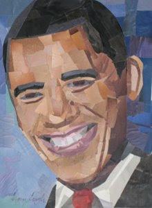Barack Obama by collage artist Megan Coyle