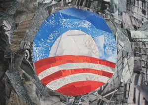 Obama Logo by collage artist Megan Coyle