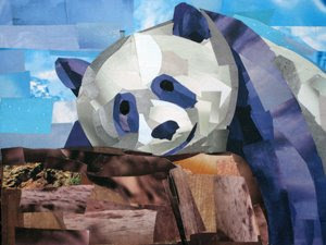 Lounging Panda by Megan Coyle
