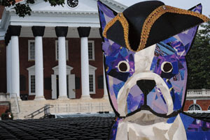 Bosty goes to Charlottesville by collage artist Megan Coyle