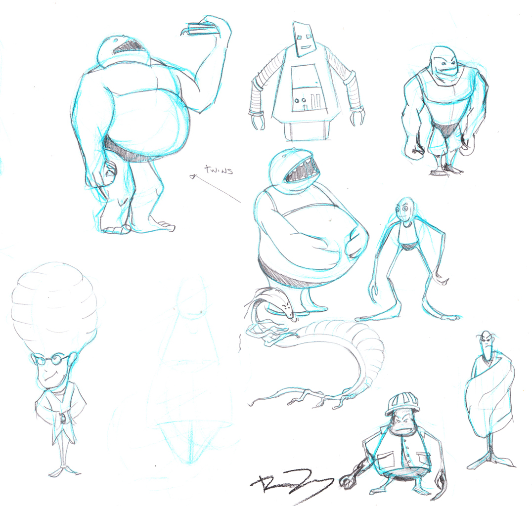 Character Design Session : Ruben s page character design nd session