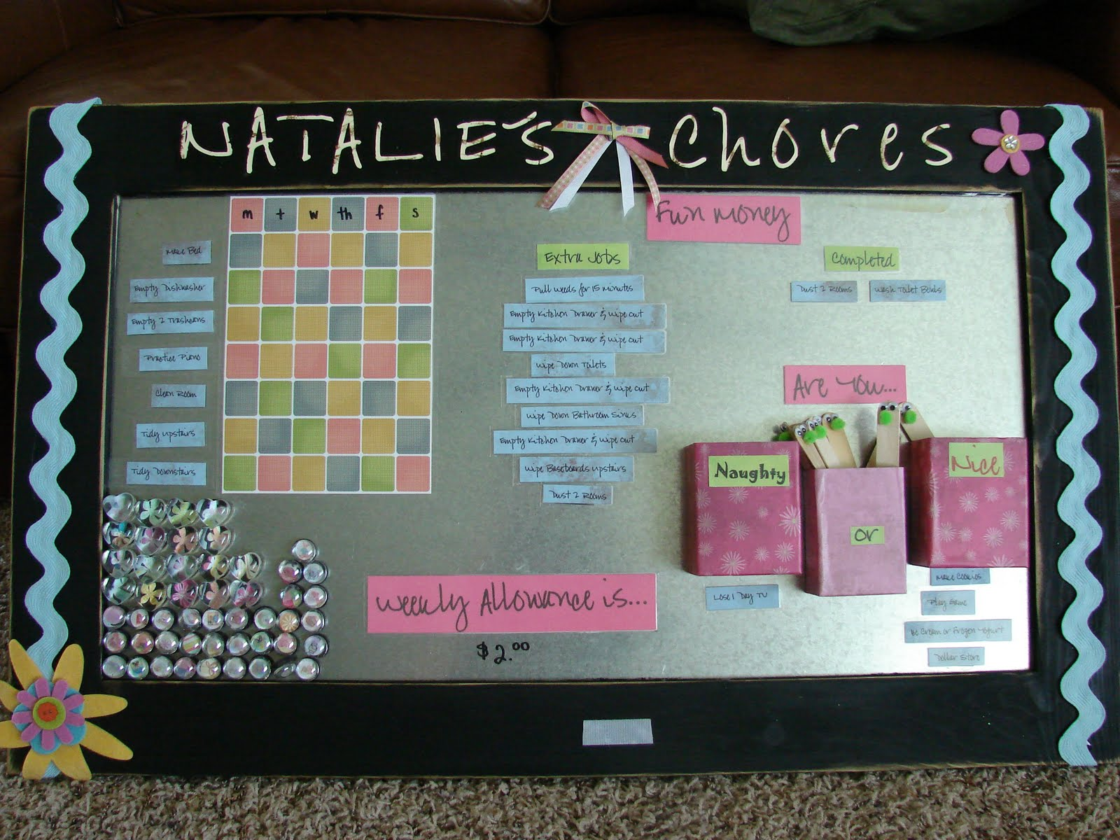 You Are A Fly On My Wall: Homemade Chore Chart