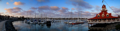 Sunset at Coronado Yacht Club
