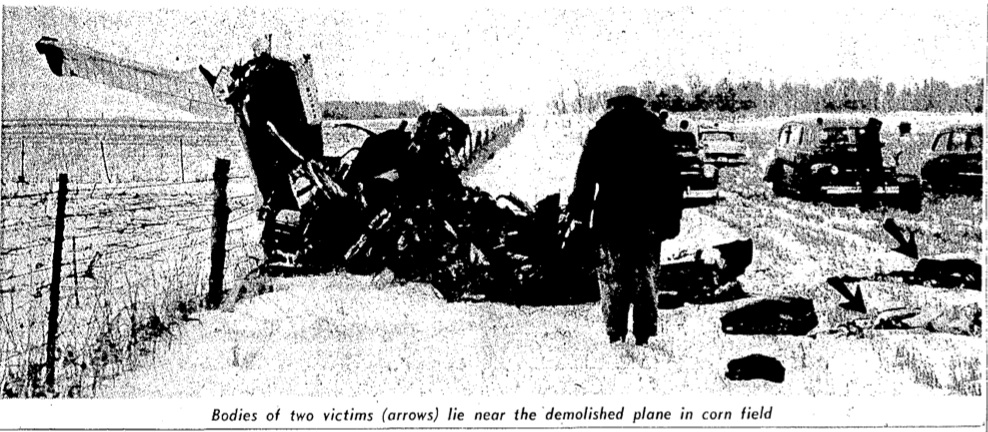 in historic newspapers: Account of Plane Crash: The Day the Music Died
