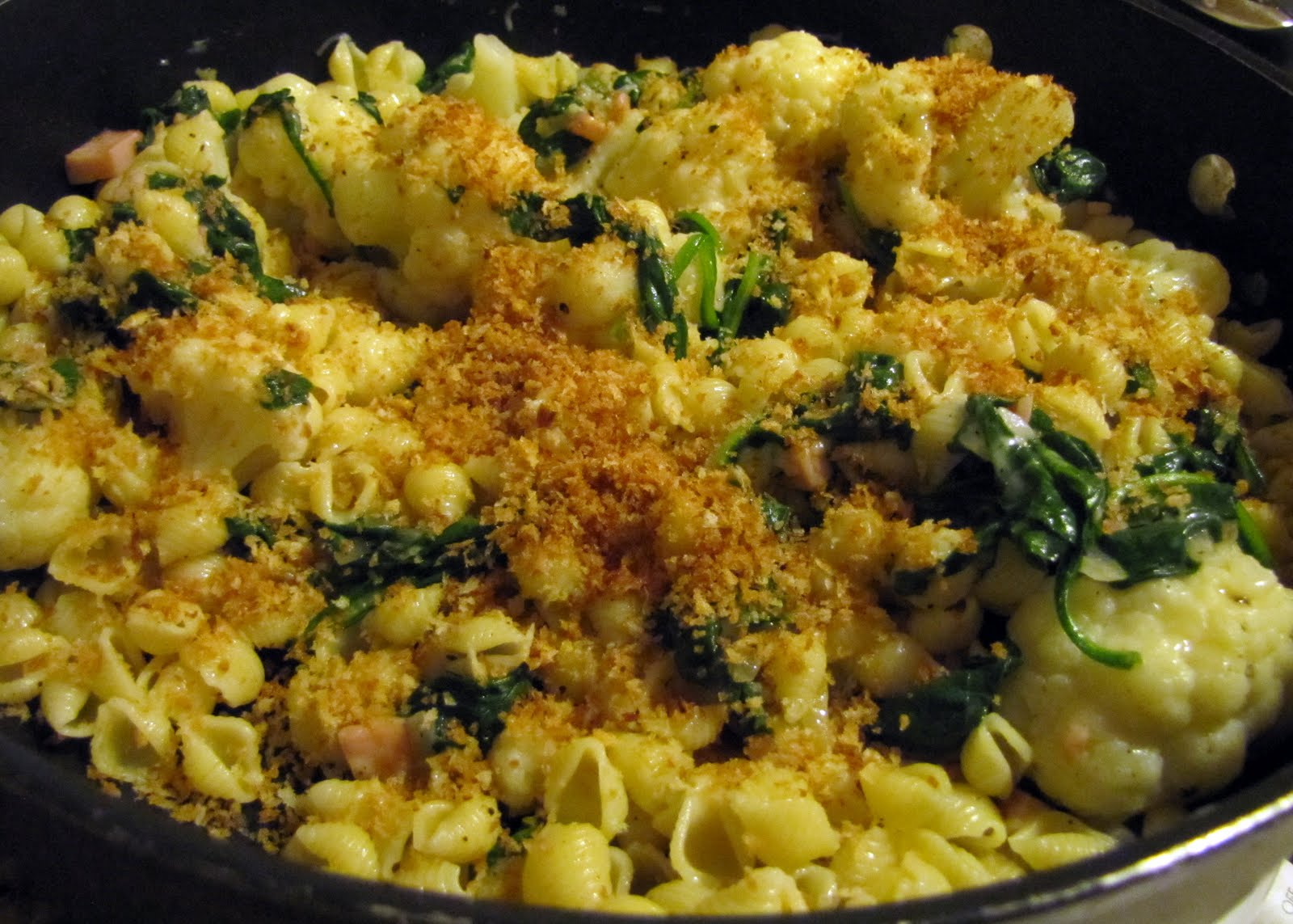 Four-Cheese Pasta With Cauliflower Recipe — Dishmaps
