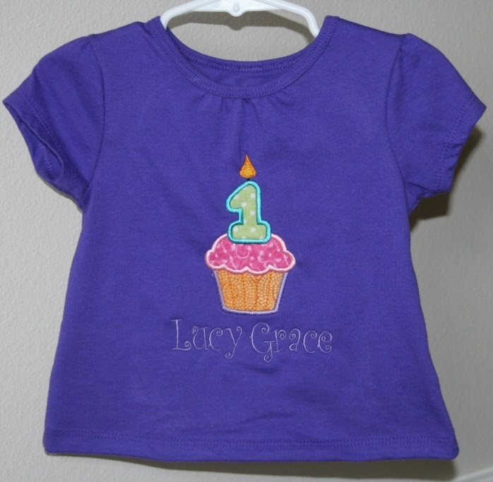 Blueeyedbaby designs first birthday applique shirt for Applique shirts for sale