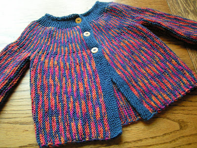 Babies' Cardigan Knitting Pattern with Raglan Sleeves with