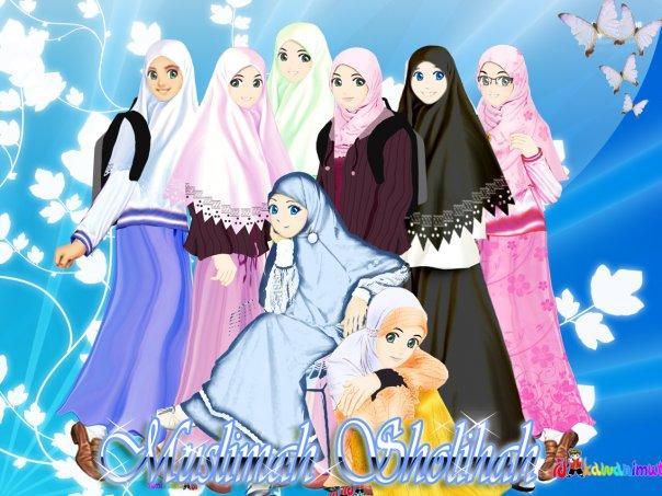 Pengantin+muslimah+kartun