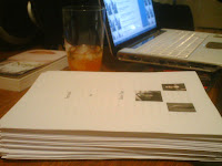 1st draft of book printed out