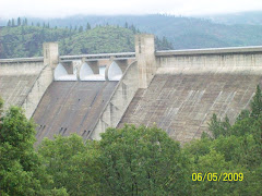 Shasta Dam on a rainy day