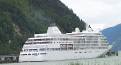 One of the cruise ships docked in Skagway
