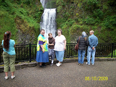 The girls at the water fall