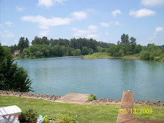 Cowlitz River out back of Hudson home