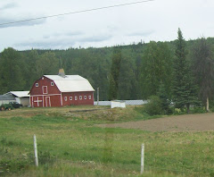 Red Barn near a farm