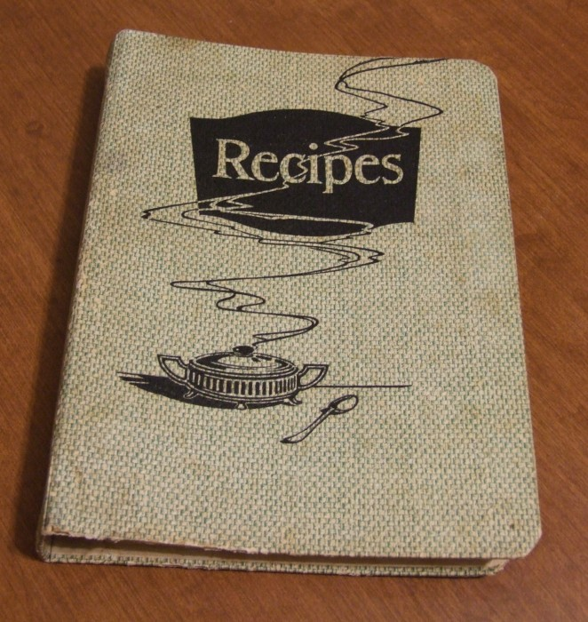 The food company cookbooks half finished recipe book its one of those smaller three ring recipe binders with tabs inside for the different categories and lined notepaper to write the recipes on forumfinder Choice Image