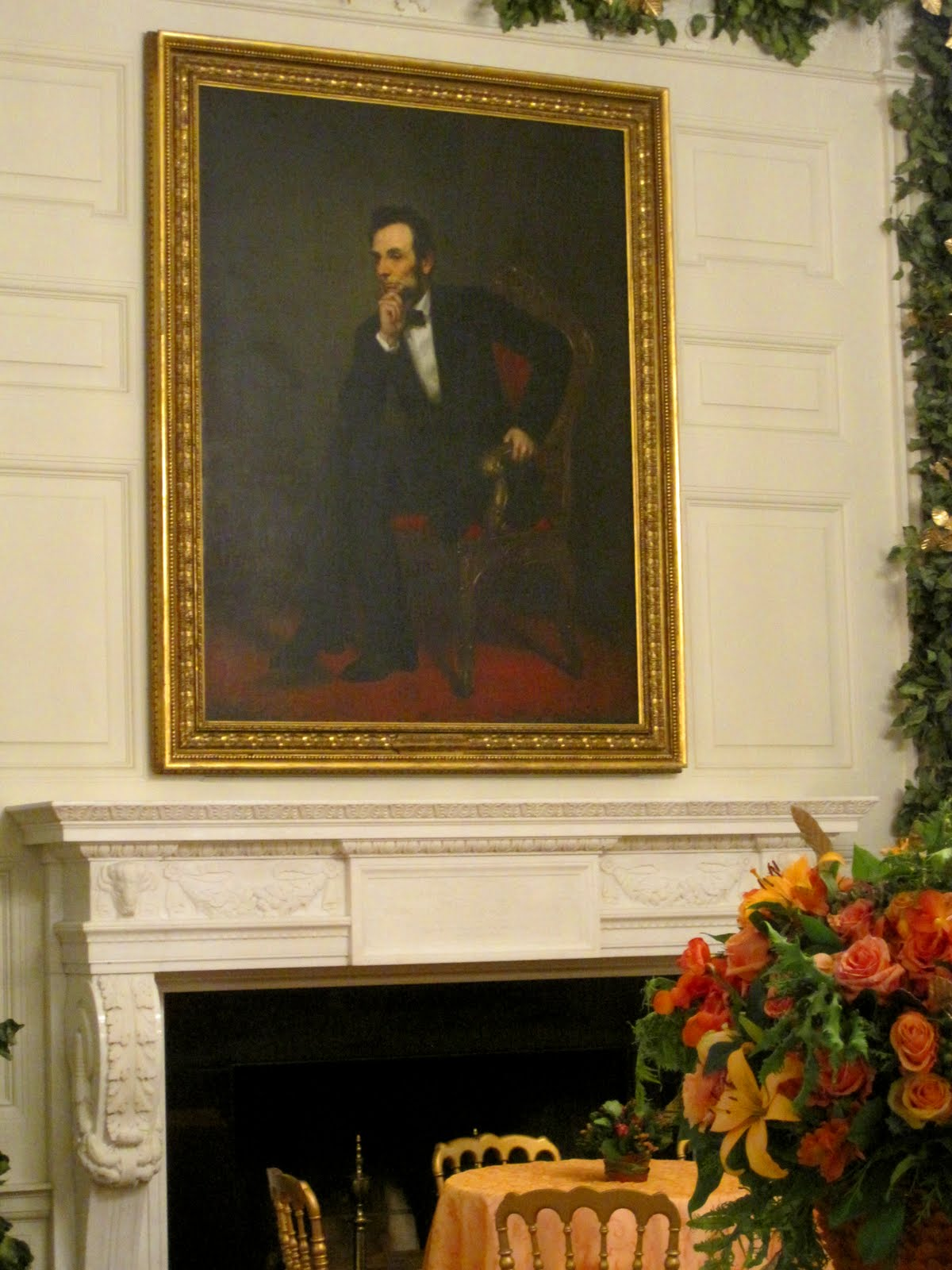 white house state dining room art architect