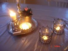 Ljusbrickan på köksbordet