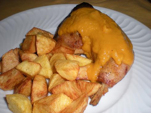 Las recetas de mi casa pollo al horno con salsa fotos - Salsa para verduras al horno ...