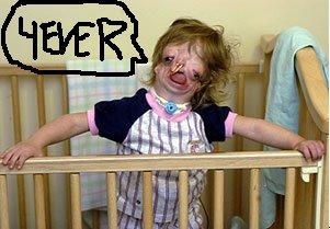 Petite fille ideuse et mourante qui dit 4EVER