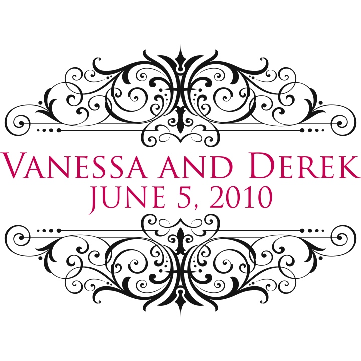Double Trouble Designs Wedding Monogram For Vanessa