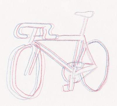 3D bicycle drawing