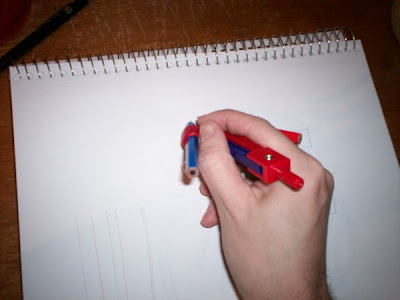 Drawing kit in use