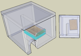 Computer model of litter box cover