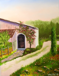 Tuscan Villa in Siena Painting - Daily Painting Blog - Original Oil and Acrylic Artwork by Artist Mark Webster