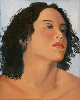 Daily Painters, Daily Paintings, Portrait of Shandra - Daily Painting Blog - Original Oil and Acrylic Artwork by Artist Mark Webster