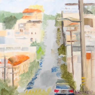 Streets of San Francisco Painting  - Daily Painter - Original Oil and Acrylic Art - Painting a Day by California Artist Mark A. Webster