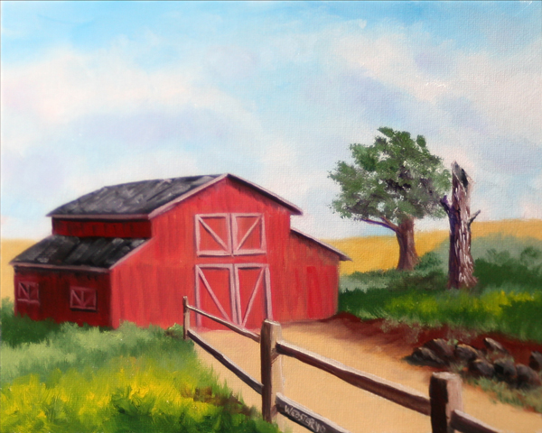 Daily Painters Abstract Gallery Untitled Barn Landscape