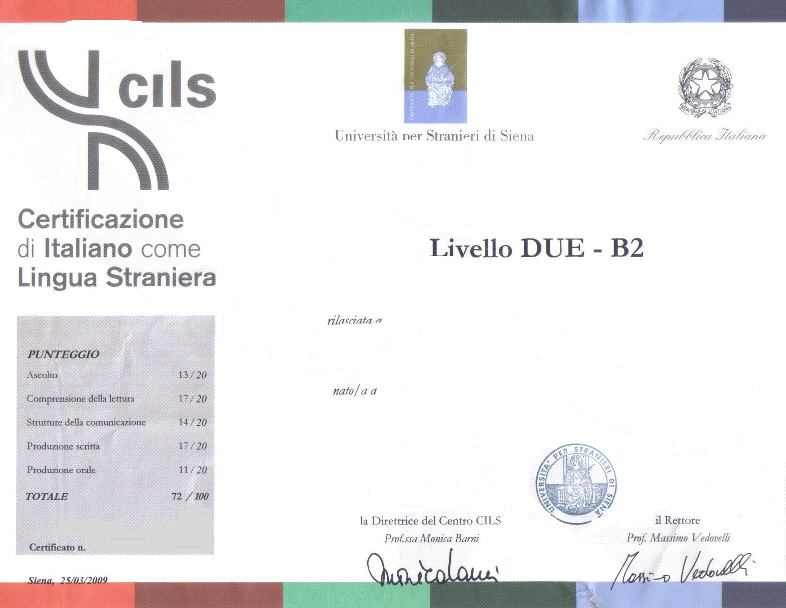 Awesome Test Di Lingua Italiana Per Carta Di Soggiorno Photos ...
