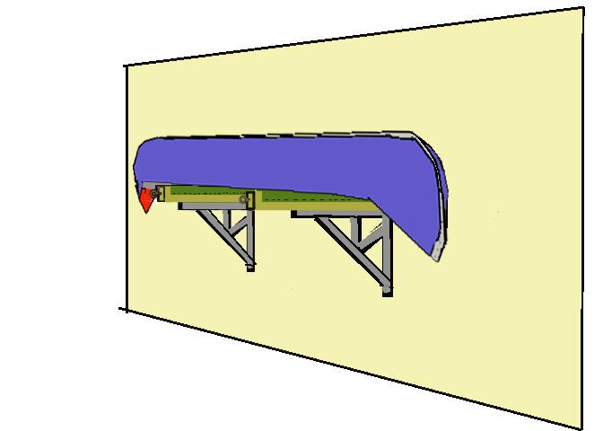 Attirant Canoe On A Shelf