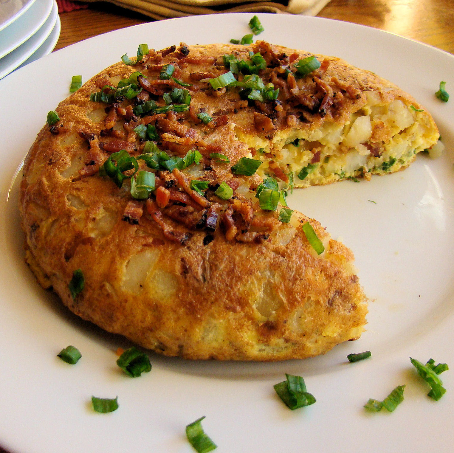 ... Roasted Potatoes, Bacon, Cheddar Cheese and Green Onions Frittata