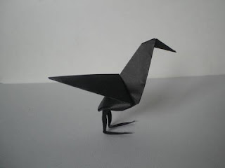 Spooky Origami Raven for Halloween